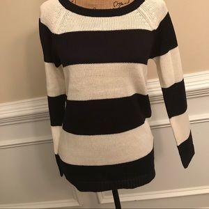 NEW! Joe Fresh Blue & White Striped Sweater    XS